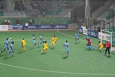 भारत-मलेशिया हॉकी मैच, दिल्ली, ५ अक्टूबर २०१०
