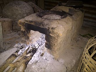 Kitchen stove - Indonesian traditional brick stove which is still used in some rural areas