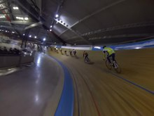 File:Indoor cycling on the velodrome of Alkmaar, Netherlands. W. Gopro hero3 black.webm