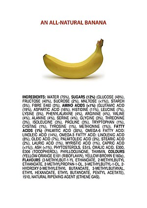 Ingredients of an All-Natural Banana poster