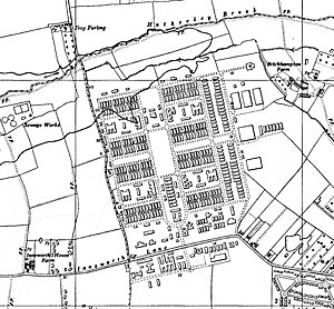 Imjin Barracks - RAF Innsworth on a 1950s Ordnance Survey map