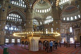 Interior of Selimiye Mosque (15051849687).jpg