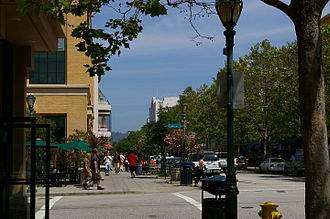 A Pacific Avenue street corner Intersection of Pacific and Cathcart, Downtown Santa Cruz.jpg