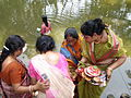 Inviting Goddess Ganga - Hindu Sacred Thread Ceremony - Simurali 2009-04-05 4050058.JPG