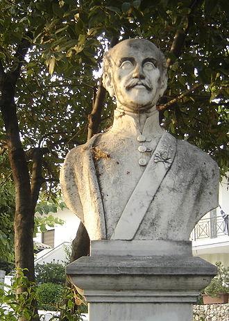 Alexander Ypsilantis - A bust of Alexandros Ypsilantis in Nea Trapezounta, Pieria