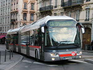 Trolleybuses in Lyon - An Irisbus Cristalis in Lyon, 2009.