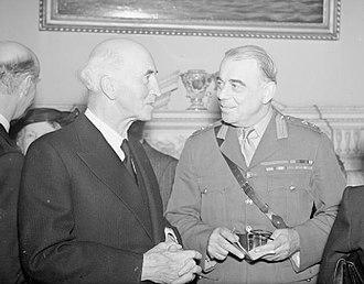 Hastings Ismay, 1st Baron Ismay - Ismay with Sir John Simon in 1945