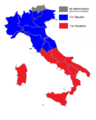 Italian institutional referendum, 1946 result by region.png