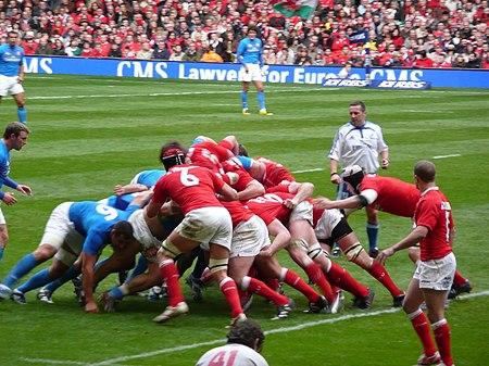 Cymru yn erbyn yr Eidel, Pencampwriaeth y Chwe Gwlad, 2008. Cymru 47, Yr Eidel 8.