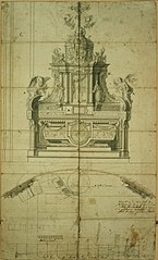 Design for an altar with large tabernacle
