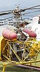 JMSDF Kawasaki Bell 47G-2A(8753) rear fuselage section left rear view at Kanoya Naval Air Base Museum April 29, 2017.jpg