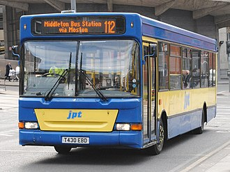 JPT Bus Company - Plaxton Pointer 2 bodied Dennis Dart SLF in Manchester in March 2013