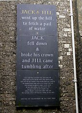 The Plaque Erected In 2000 At Kilmersdon Somerset To Commemorate Village S Ociation With Rhyme