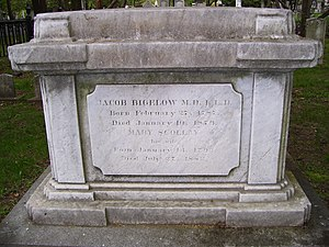 Jacob Bigelow - Jacob Bigelow grave at Mount Auburn Cemetery