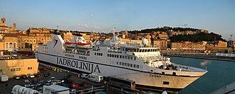 Jadrolinija - The Jadrolinija ferry MF Zadar in Ancona harbour