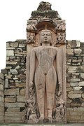 Jain statue of Parshvanath, Naugaza temple, Alwar district, Rajasthan, India.jpg