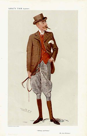 "James Buchanan, 1st Baron Woolavington - ""Whisky and Horses"". Caricature by Spy published in ''Vanity Fair'' in 1907."