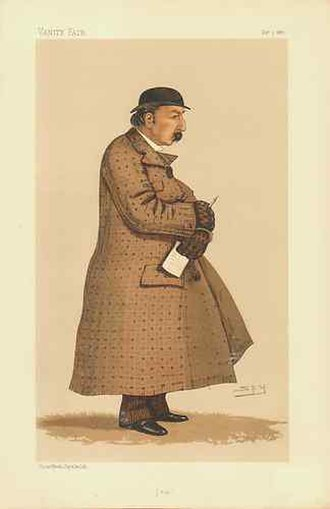 James Octavius Machell - Caricature of Machell by Leslie Ward in the 3 December 1887 issue of Vanity Fair