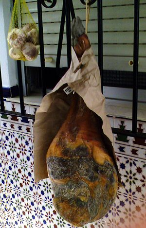 Andalusian cuisine - Jamón, dry-cured pork ham
