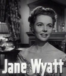 L'actriz estatounitense Jane Wyatt, en una scena d'a cinta Gentleman's Agreement (1947).