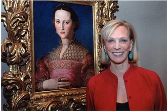 Janet Cox-Rearick - Cox-Rearick with a portrait of Duchess Eleonora di Toledo by Agnolo Bronzino.