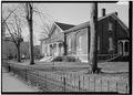 January 1975 FRONT ELEVATION - Hicksite Friends Meetinghouse, 1150 North A Street, Richmond, Wayne County, IN HABS IND,89-RICH,5-1.tif