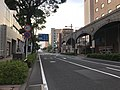 Japan National Route 58 on east side of Asahi-dori Station.jpg
