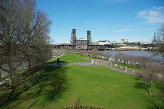 Tom McCall Waterfront Park - The Japanese American Historical Plaza (February 2011)