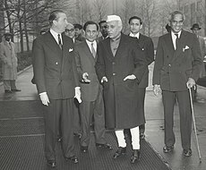 Jawaharlal Nehru and V.K. Krishna Menon, United Nations, New York, 21 December 1956