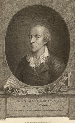 Jean-Marie Roland, vicomte de la Platière - from Édouard Charton, Le Magasin Pittoresque, 1777 à 1786