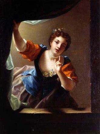 Jean Raoux - Image: Jean Raoux – L'indiscrète 1728