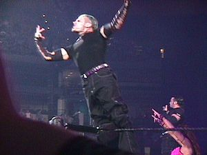Lita (wrestler) - Team Extreme doing their entrance routine during the King of the Ring event in June 2000