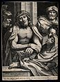 Jesus is exhibited to the people wearing a crown of thorns. Wellcome V0034770.jpg