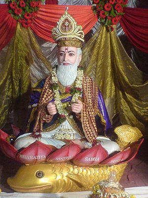 Iṣṭa-devatā (Hinduism) - Murti of Ishta Dev of Sindhi people Jhulelal