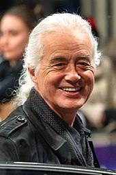 Photograph of Jimmy Page smiling