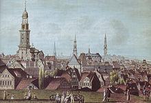 Prospect von der Kaiserlich Französischen Stadt Hamburg (Johann Marcus David, 1811) (Quelle: Wikimedia)
