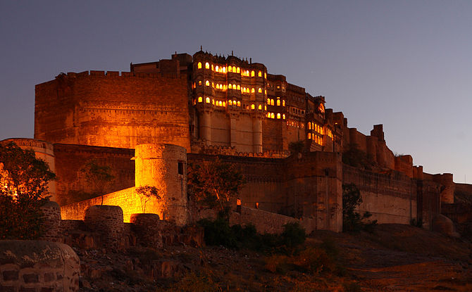 English: The Mehrangarh Fort in Jodhpur