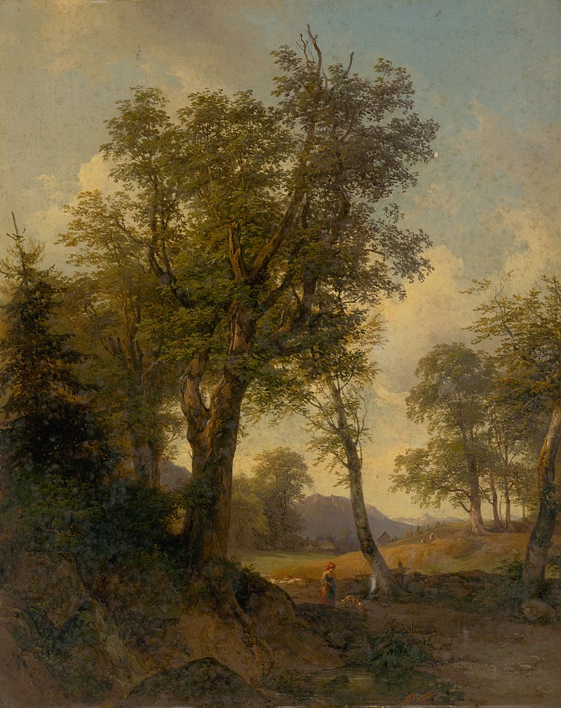 Johann Höger - Alpine Landscape with Trees in the Foreground - O 474 - Slovak National Gallery.jpg