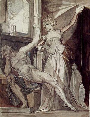 Gudrun - Kriemhild and Gunther, Johann Heinrich Füssli, 1807