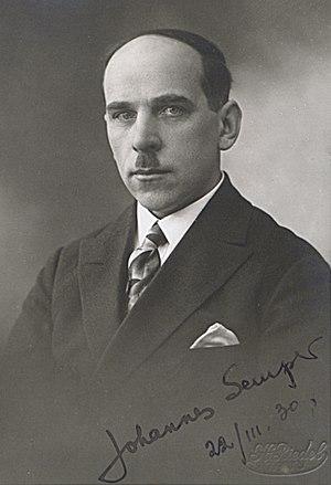 Johannes Semper - Johannes Semper, 1930s.