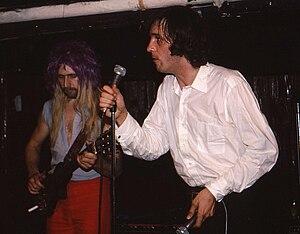 John Otway - Otway (right) with Wild Willy Barrett in Toronto, 1981
