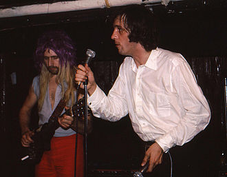 John Otway - Otway (right) with Wild Willy Barrett in Toronto, 1981