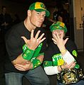 John Cena with wish kid fan Savannah.JPG