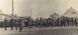 John McCrae's Funeral Procession to Wimereux