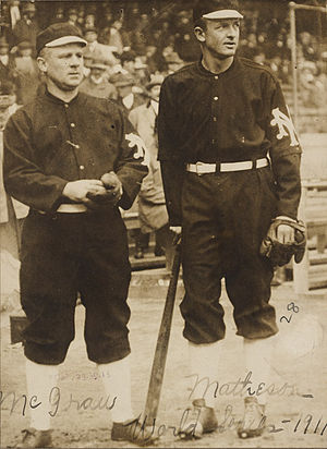 1911 New York Giants season - Manager John McGraw and pitcher Christy Mathewson.