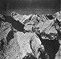 Johns Hopkins Glacier, hanging glaciers and icefall, September 12, 1973 (GLACIERS 5503).jpg