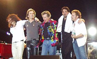Journey (band) - Journey in 2002: Steve Augeri, Jonathan Cain, Ross Valory, Deen Castronovo and Neal Schon