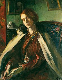 Painting of Julia Stephen by Jacques-Emile Blanche based on a photograph by Julia Margaret Cameron
