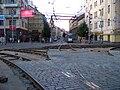 Křižovatka Anděl, rekonstrukce, pohled ke Štefánikově.jpg
