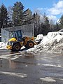 KCM wheel loader moving snow Northern Vermont University Lyndon VT March 2019.jpg